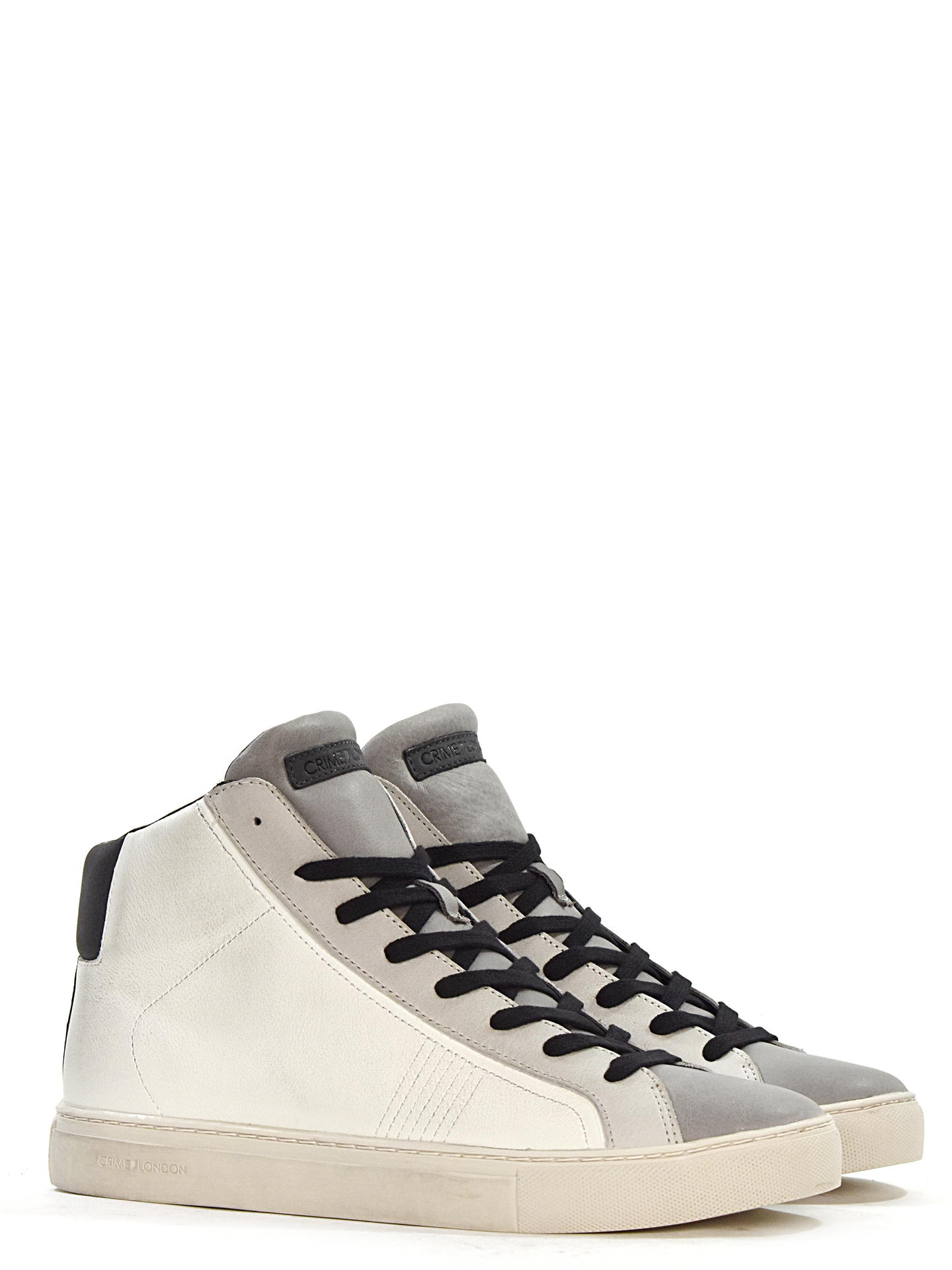 SNEAKERS CRIME LONDON 11653 BIANCO