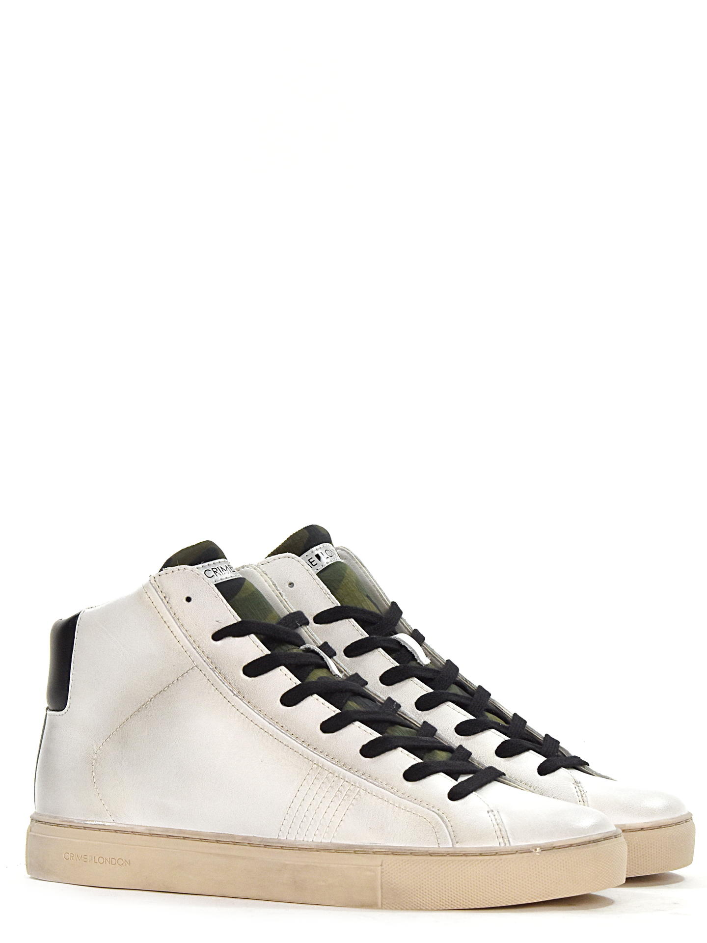 SNEAKERS CRIME LONDON 11656 BIANCO